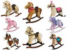 Childrens Kids Rocking Horse Pony Toy Toddler Gift With Sound and Moving Mouth