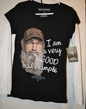 Duck Dynasty Womens Long Sleeve T Shirt Size S L  3XL  NWTVery Good Bad Example