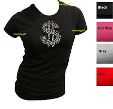 Junior Sizes Money Sign T-Shirt  Dollar  Cash Symbol  Shirt SIZES S-XL