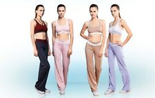 Fitness Rouch Built-in Bra Crop Top 2 Way Halter Tank/Bootcut Drawstring Trouser