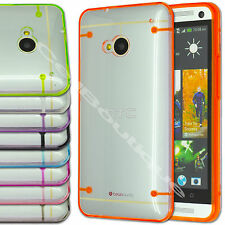 New Hybrid Transparent TPU Gel Skin Case Cover for HTC One M7 Screen Protector