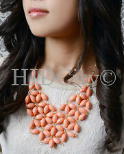 New Crew Tessellate Statement Bubble Bib Flower Necklace US Seller