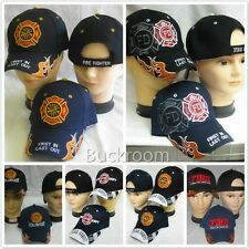 Fire Department Volunteer Fireman FILO Firefighter CAP EMBROIDERED BASEBALL HAT
