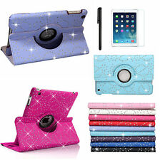 New 360 Degrees Rotating Bling SPARKLY Leather Case Cover for Apple ipad mini1/2