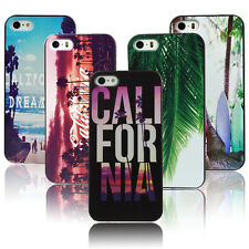 Beauty Sunset California Beach Tropical Palm Trees Hard Case For iPhone4 4s 5 5s