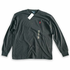 Ralph Lauren Polo Player Long Sleeve Classic Fit T Shirt Black Cotton Small Pony