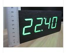 Table Clocks Wood LED Alarm Clock Large Number 5 Functions Modern Digital