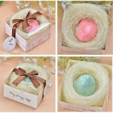 12 x Nest Egg Scented Soap Baby Shower Christening Party Favour - Blue or Pink