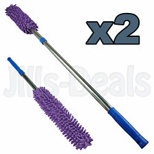2x MICROFIBRE DUSTER EXTENDING NOODLE DUSTERS HOME SHOP CLEANING DUSTING TOOL