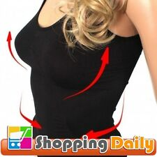 Womens Slimming Singlet Vest Slims Trims Tummy Hip & Lifts Breast Shapewear NEW