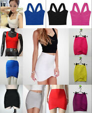 L4 New Hot Ladies Slim Bandage Bodycon Stretch Mini Party casual Dress/Top/Skirt