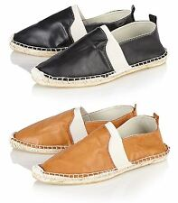 Maverick Mens Leather Look  Slip On  Casual Plimsolls Beach Shoes Sizes