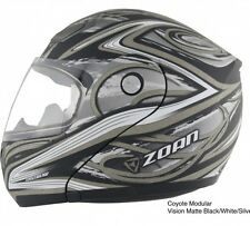 Zoan Z936 Coyote Modular Helmet with Vison, Black, and TD Graphics