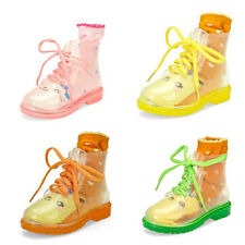 2014 Children flat clear festival jelly wellies low ankle rainboots Water shoes