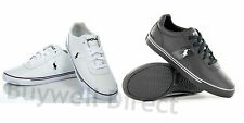 2014 Polo Ralph Lauren Hanford Leather Black or White Trainers Shoes All Sizes