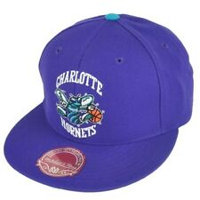 "Charlotte Hornets NBA Mitchell & Ness ""HWC"" Purple Fitted Hat New"