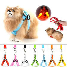 LED Flashing Light Dog Harness Safety Pet Dog Puppy Harness Collar & Lead Leash