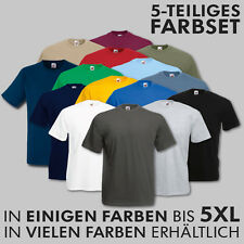 5er-Pack Fruit of the Loom T-Shirts - S - M - L - XL - XXL - 3XL - 4XL - 5XL