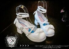 Lolita fairy Baby Doll marianne apple Maid Scalloped Mary-jane Heel shoes 9988 W