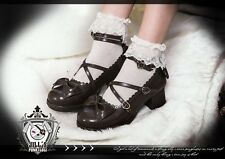 Lolita fairy Baby Doll marianne apple Maid Scallope Mary-jane Heel shoes 9988 BR