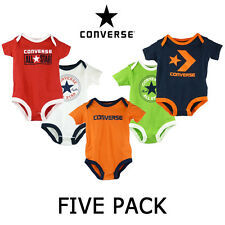 Brand New Baby Converse 5 Pack Bodysuit Gift Set