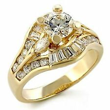 18K GOLD EP 3.1CT DIAMOND SIMULATED ENGAGEMENT RING size 5 - 11 you choose