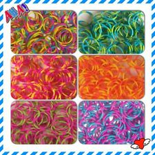 Wholesale Lot two tone Soccer Ball RUBBER BANDS REFILL fit Rainbow Loom twist