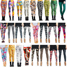 Leggin legins, Leggings look Girls Leggins mit Strass Print Tattoo