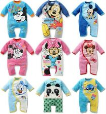 Baby Kids Boys Girls Jumpsuit Bodysuit Outfit Mickey&Minnie Mouse Rompers 0-3Yrs