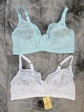 NEW (TWIN PACK) SHAPELY FIGURES NONWIRED PRETTY COMFORT BRAS 36-48