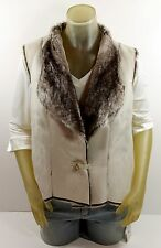 NEW COLDWATER CREEK FAUX SHEARLING IVY VEST