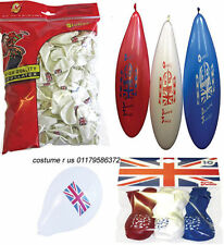 #UNION JACK JUBILEE AND OLYMPICS ENGLAND PARTY BALLOONS RED BLUE WHITE