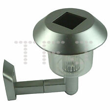 OUTDOOR GARDEN LED SOLAR POWERED WALL LIGHT DOOR FENCE LAMPS SHED LANTERN LIGHTS
