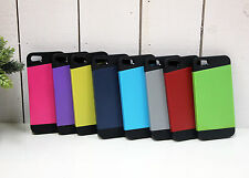 2 in 1 Black Soft Rubber and Hard Plastic Cover Case For Apple iPhone 5 5S