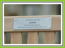 """6 x 3"""" LASER ENGRAVING BRUSHED STAINLESS STEEL  BENCH PET MEMORIAL PLAQUE SIGN"""