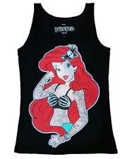 Twisted Ariel Little Mermaid Disney Singlet Tank Top Punk Goth Tattoo Scene Vest