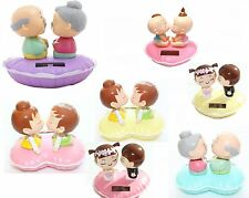 Lover's perfect gift - Kissing Babies, Kissing Grandparents Solar Powered Toy