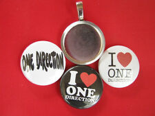 One Direction 3  Multi-color changeable pendants Magnetic Pendant Necklace