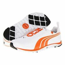 Puma Faas Lite Mens Golf Shoes 186742-02 White / Vibrant Orange - New