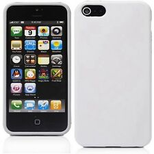 New White Soft Silicone Case Cover Skin for Apple iPhone 5 5S