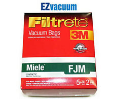 Miele Type (F J M) FJM Filtrete 3M Vacuum Cleaner Dustbags # 5 Bags 2 Filters