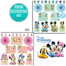 MICKEY MOUSE OR MINNIE MOUSE 1ST BIRTHDAY PARTY SUPPLIES ROOM DECORATING KIT