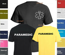Paramedic T-Shirt Emergency Medical Services Service  Shirt - TWO SIDES PRINT