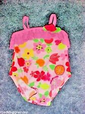Girls One-piece Circo Swimsuit - 9 month, 12 month - Pink, floral, fruit - NWOT