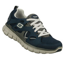Women Skechers Leather Trainers Synergy Ultimatum Navy / Gray 11684 Size 6
