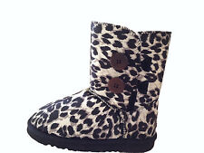 UGG Boots 2 Button Synthetic Wool Colour Black Leopard on Special Multi Size