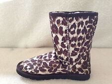 UGG Boots Classic Short Synthetic Wool Colour Brown Leopard for Junior girl