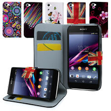 Sony Xperia Z1 Compact Mini PU Flip Leather Wallet Case Cover & Screen Guard
