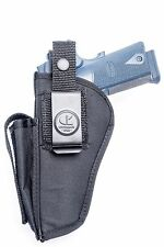 Colt 1911 Gold Cup, Government .45 ACP   OWB Open Cary Belt Holster w/ Mag Pouch