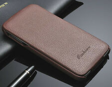 Genuine Real Leather Flip Phone Case Cover fo Samsung Galaxy S5 S 5 G900 series